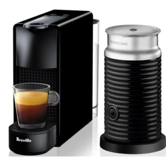 Breville Nespresso Essenza Mini Coffee Machine Bundle (Black)